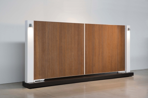 Tore aus aluminium und massivholz: Modell 3
