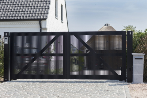 Houten tuinpoort: model 9