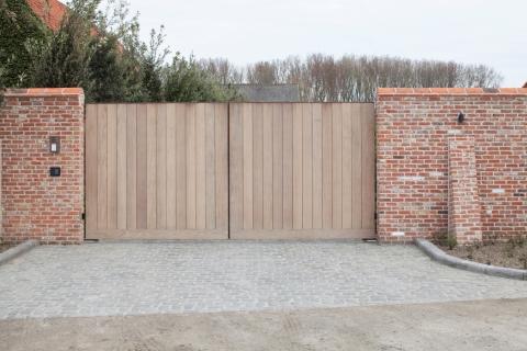 Wooden garden gate: model 8