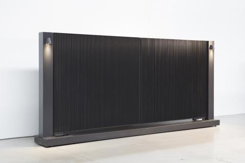 Tore aus aluminium und massivholz: Modell 7