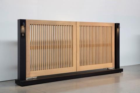 Portails en bois: modèle 6